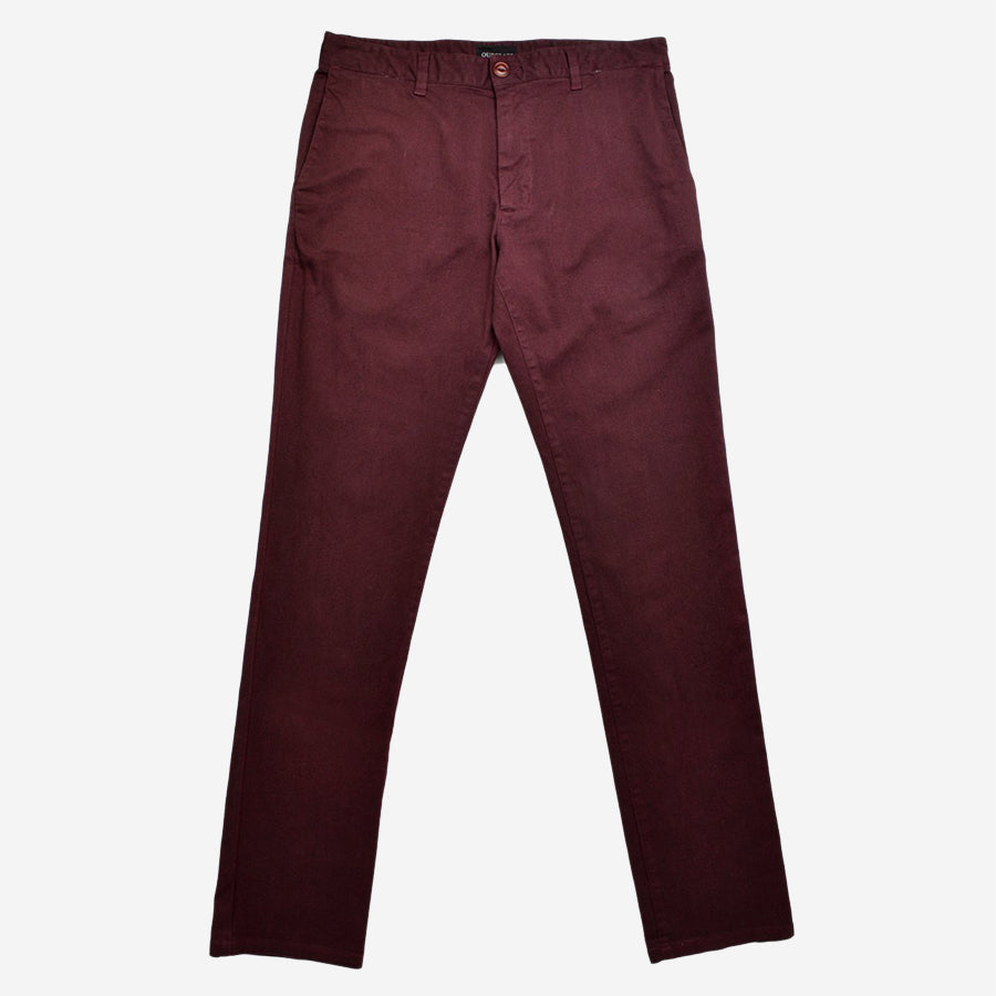 Garment Dyed Chino Pant - Maroon