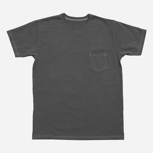 3Sixteen - Garment Dyed Heavyweight Pocket T-Shirt - Charcoal