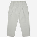 Ripstop Pleated Trouser - Garment Dyed Ecru