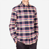 Bon Vivant - Gino Heavyweight Flannel Shirt - Navy/Red/Yellow