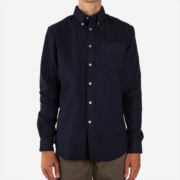 Bon Vivant - Gino Heavyweight Moleskin Shirt - Navy