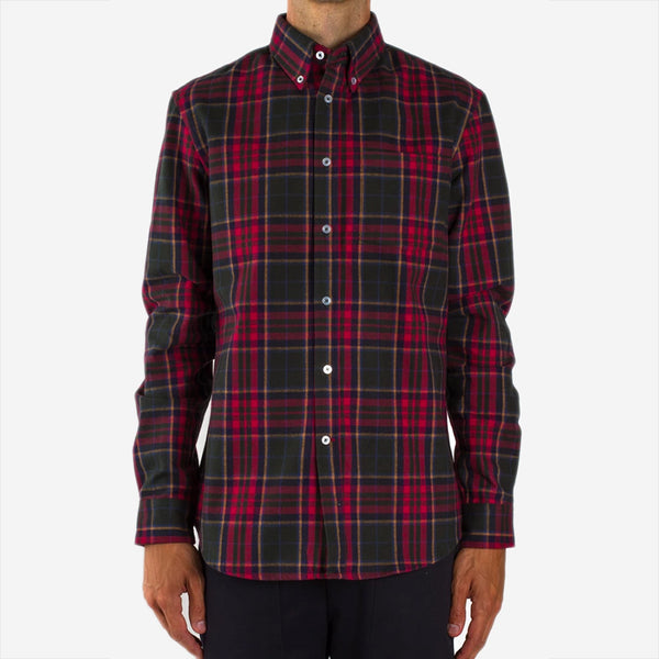 Bon Vivant - Gino Heavyweight Plaid Moleskin Shirt - Navy/Red/Green