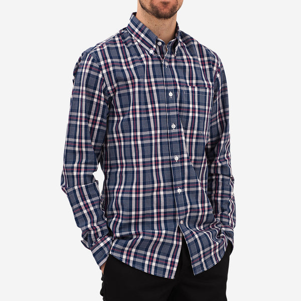 Bon Vivant - Gino Long-Sleeve Shirt - Poplin Check