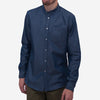 Bon Vivant - Gino Mao Long-Sleeve Shirt - Indigo Twill