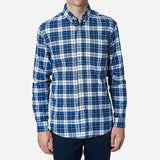 Bon Vivant -  Gino Shirt - Airy Plaid - Navy/White