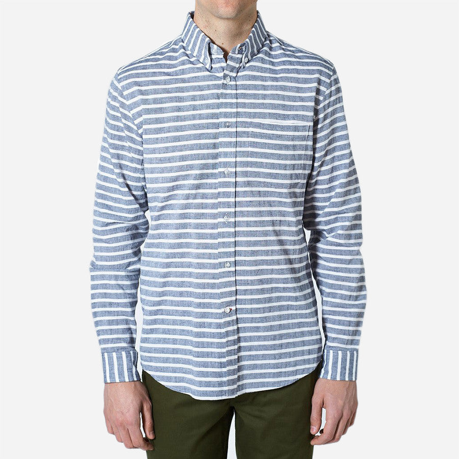 Bon Vivant -  Gino Shirt - Panama Stripe - Light Blue
