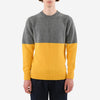 Country Of Origin - Colour Block Lambswool Sweater - Yellow/Dark Grey
