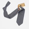 Harrison Herringbone Necktie - Midnight Blue