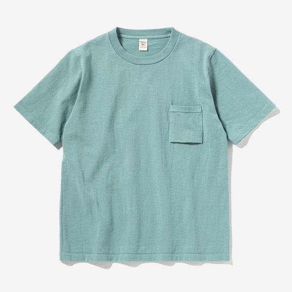 High-Density Dotsume S/S Pocket T-Shirt - Fade Green