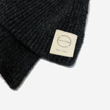 Country Of Origin - Honeycomb Lambswool Scarf - Charcoal