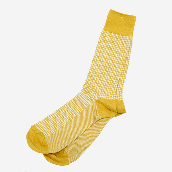 Anonymous Ism - Houndtooth Crew Socks - Beige