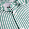 Calipso Short-Sleeve Vacation Shirt - Green Stripe