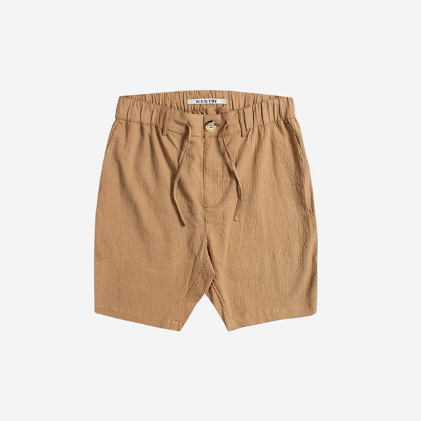 Inverness Shorts - Dark Tan Seersucker