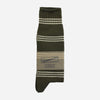 Anonymous Ism - Indian Stripe Crew Socks - Moss Green