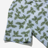 Outclass Attire - Ivy Fern Leaf Havana Vacation Shirt - Light Blue