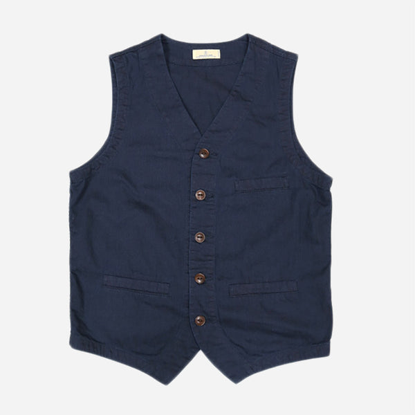 Japan Blue - JBVB02 Denim Vest - 6.5oz Deep Blue