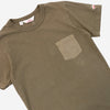 Battenwear - Jersey/Broadcloth Pocket T-Shirt - Olive Green