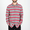 Portuguese Flannel - Jersey Flannel Shirt - White/Red/Blue