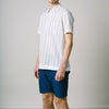 Buckthorn Short Sleeve Shirt - Navy & Cream