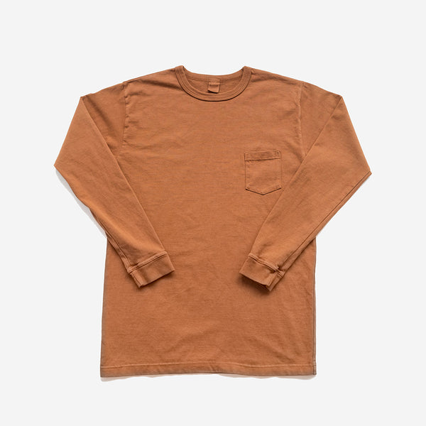 Garment Dyed Heavyweight L/S Pocket T-Shirt - Clove