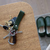 Woolfell - Leather Keychain - Olive Green (MG Exclusive)