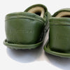 Woolfell - Leather Slippers - Olive Green with Sheepskin (MG Exclusive)
