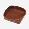 Leather Tray - Marbled Brown