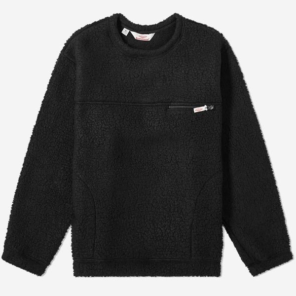 Lodge Fleece Crewneck  Sweatshirt - Black