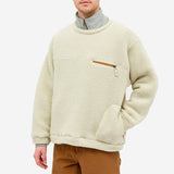 Lodge Fleece Crewneck  Sweatshirt - Natural