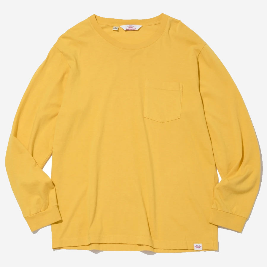 Long-Sleeve Basic Pocket Tee - Mustard