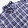 Outclass Attire - Long-Sleeve Shirt - Blue & White Check