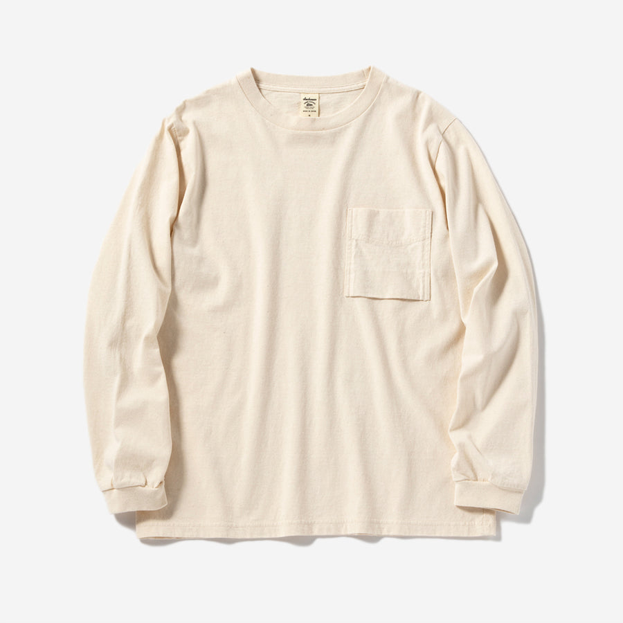 Long-sleeve Pocket T-Shirt - Ecru