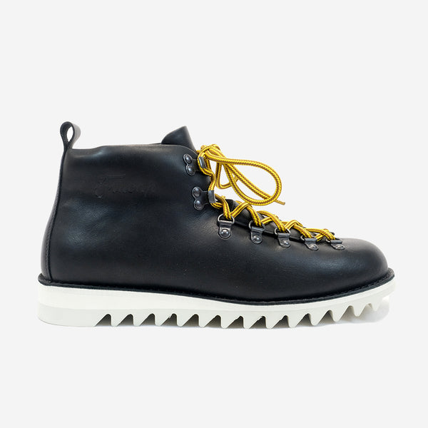 Fracap - M120 Magnifico Leather Boots - Black with Fur Lining