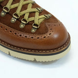 M130 Brogue Suede/Leather Boots - Brown