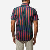 Monaco Short-Sleeve Shirt - Red/Navy