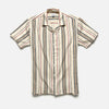 House of St. Clair - Marrakech Shirt - Neutral/Red Stripe