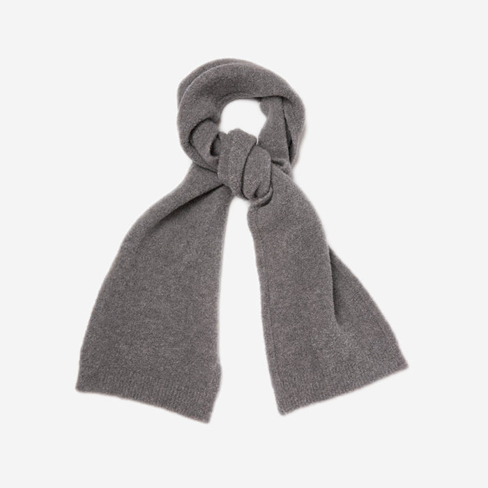 Country Of Origin - Merino Fleece Boucle Scarf - Grey
