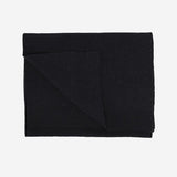 Merino Wool Scarf - Deep Black