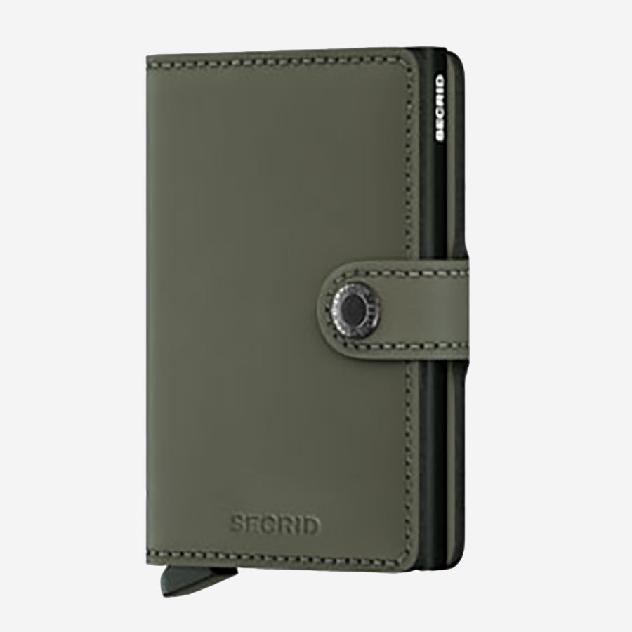 Securid - Mini Wallet - Matte Green
