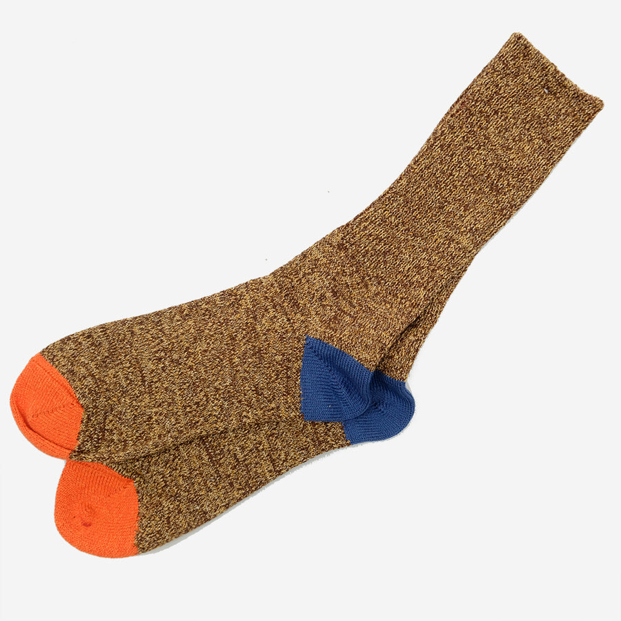Moc 2 Points Crew Socks - Brown