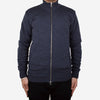 Mockneck Merino Zip Sweater - Steel Blue