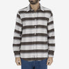 Moss Stripe Blanket Flannel Shirt - Moss Green