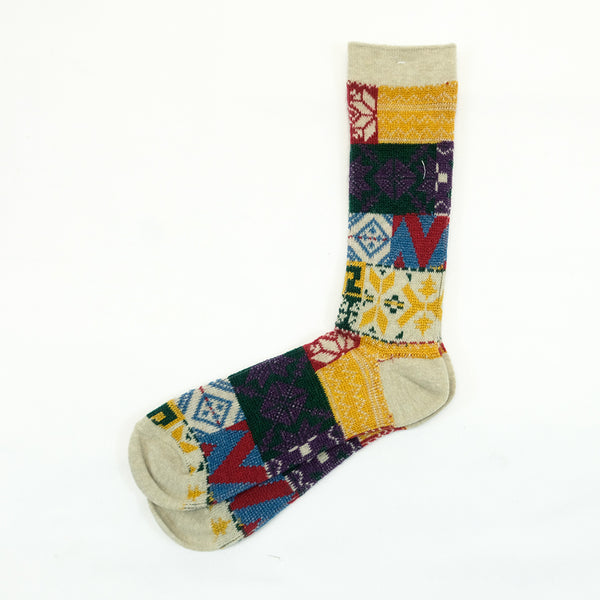 Anonymous Ism - Multi Pattern Crew Socks - Natural