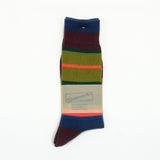 Anonymous Ism - Multi Stripe Crew Socks - Wine