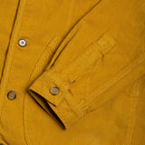 Kestin Hare - Neist Collarless Overshirt - Old Gold Corduroy