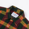 Portuguese Flannel - Orange Check Flannel Shirt - Green/Wine/Orange