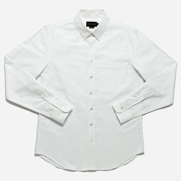 Outclass Attire - Oxford Long Sleeve - White