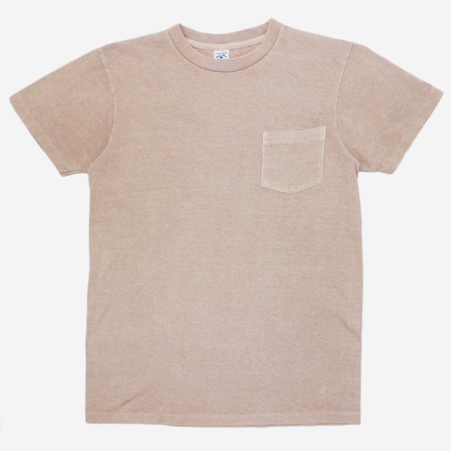 Velva Sheen - Pigment Dyed Pocket T-Shirt - Light Pink