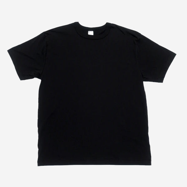 Pima Cotton Plain T-Shirt - Black