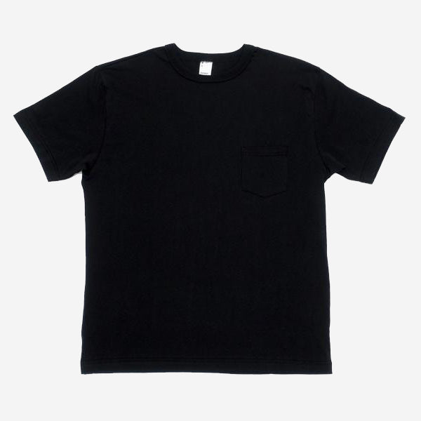Pima Cotton Pocket T-Shirt - Black